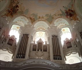 Orgel - Orgel, Instrument, Barock, Johann Nepomuk Holzhay, Kirche, Neresheim, Orgelprospekt