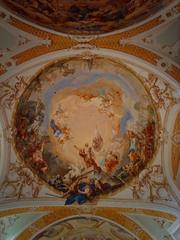 Auferstehung - Auferstehung, Neresheim, Martin Knoller, Kirche, Hauptkuppel, Wandmalerei, Wandbild, Deckenmalerei, Deckenbild, Fresko, Barock, Kunst