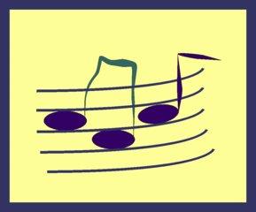 Notenlinien - Noten, Notenlinien, symbolische Notenlinien, Note, Notensystem, Illustration