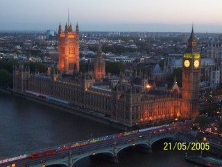 Houses of Parliament  - Houses of Parliament, London, Themse, River Thames, Westminster Bridge, Big Ben, Victoria Tower, parliament, House of Commons, House of Lords, night