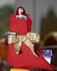 Nikolausstiefel - Nikolaus, Weihnachten, Advent, Serviette, falten, Origami