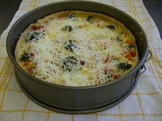 Gemüsequiche #2 - Gemüsequiche, Quiche, vegetarisch, Teigboden, belegt, Gemüse, vorgebacken, Käse