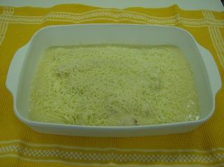 Lauch Schinken Röllchen #1 - Lauch, Schinken, Röllchen, Auflaufform, Soße, Käse, Reibekäse