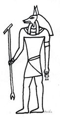 Anubis - Ägypten, Hochkulturen, Mythologie, Götter, Gottheiten, Glaube, Religion, Totenkult, Totengericht, Anubis, Schakal, Pyramiden
