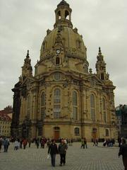 Dresdener Frauenkirche - historisches Gebäude, Kirche in Dresden, Frauenkirche, Kuppelbau, Sandsteinbau, Sakralbau, Barock