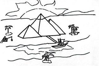 Pyramiden - Ägypten, Hochkulturen, Pharao, Pyramiden, Nil, Wüste, Gräber, Glaube