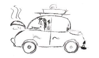 Auto kaputt - Transport, Verkehr, Urlaub, Stress, Ärger, Auto, Panne, defekt, kaputt