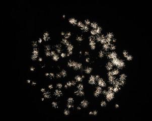 Feuerwerk 4 - Rakete, Feuerwerk, Silvester, Neujahr, Lichteffekt, Pyrotechnik, leuchten, Licht, Nacht, Himmel, schwarz, hell, leuchtend