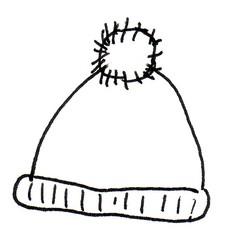 Mütze - Mütze, Winter, Kleidung, aufsetzen, Bommel, warm, Anlaut M, Pudelmütze, Haube, stricken, Kopfbedeckung, Wörter mit ü, Wörter mit tz