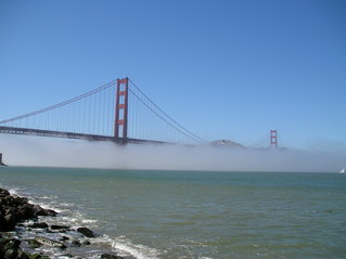 Golden Gate Bridge - USA, Kalifornien, San Francisco, Nebel, Golden Gate Bridge, Brücke