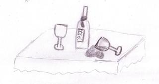 umgekippt - Weinglas, umgefallen, Glas, Weinflasche