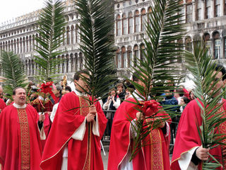 Palmsonntag - Venedig, Palmsonntag, Palmzweig, Prozession, katholisch, Feiertag, Feier, Markusplatz