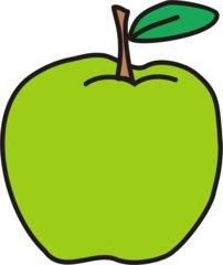 Apfel - Apfel, grün, Obst, Frucht, Anlaut A