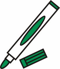 Filzstift grün - Filzstift, Filzstifte, Einzahl, Filzer, Stift, malen, ausmalen, zeichnen, grün, schreiben, Anlaut St