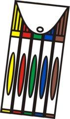 Filzstifte bunt - Filzstifte, Filzer, fünf, Mehrzahl, Packung, zeichnen, malen, ausmalen, bunt, schreiben, Stifte, Anlaut St