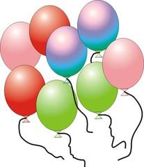 Luftballons - Luftballon, bunt, Luft, Gas, acht, schweben, Party, Geburtstag, Karneval, Fasching, Fastnacht