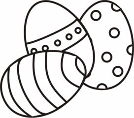 Ostereier - Ei, Eier, Osterei, Streifen, Muster, Ostern, drei, Menge, Mehrzahl, Anlaut Ei, Anlaut O