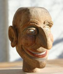 Kasperkopf - geschnitzt - Kasperle, Kasperkopf, Marionette, Handpuppe, Kasper, Kasperl, Puppentheater, Kaspertheater, Nase, Figur, Caspar, fröhlich, lustig, lachen