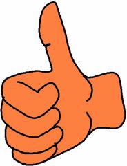 Daumen bunt - Hand, Daumen, Lob, prima, super, toll, Symbol, richtig, gut, Finger