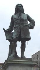 Händel-Denkmal in Halle/Saale - Händel, Komponist, Denkmal, Statue, Barock, Oper, Oratorium, Kirchenmusik, Orchestermusik, Kammermusik