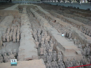Terracotta-Armee in Xian - China, Terracotta-Armee, Xian, Geographie, Geschichte, Terrakotta, Sehenswürdigkeiten