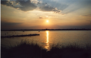 Abendstimmung an der Kieler Förde - Kiel, Kieler Förde, Möltenort, Ostsee, Abend, Abendstimmung, Sonnenuntergang, Dämmerung, Wasser