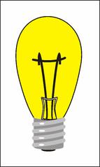 Glühbirne - Glühbirne, Glühlampe, Glühfadenlampe, Lichtquelle, elektrischer Leiter, Schraubsockel, Glühwendel, thermische Strahlung, Wärmeleitung, Gas, Elektrizität, Strom, Stromkreis, Physik, Glas
