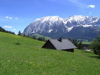 Die Almhütte am Grimming - Österreich, Grimming, Dachsteingebirge, Bad Mitterndorf, Steiermark, Alm, Hütte, Almhütte, Alpen