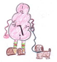 Herr Ticktack - Uhren und Tätigkeit #2 - Uhrzeit, Hund, Spazieren gehen, Uhr, Zeit, Tagesablauf