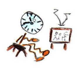 Herr Ticktack - Uhren und Tätigkeit #4 - Fernseher, Fernsehprogramm, fernsehen, Uhrzeit, Uhr, Zeit