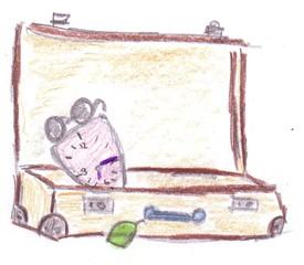 Herr Ticktack - Uhren und Tätigkeit #5 - Reise, verreisen, Koffer, Koffer packen, Uhrzeit, Reisezeit, Zeit