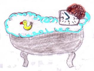 Herr Ticktack - Uhren und Tätigkeit #7 - Uhrzeit, Zeit, baden, Badewanne, Quietscheente, Freizeit, waschen, Hygiene
