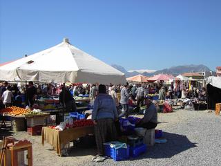 Türkei - Provinzmarkt - Türkei, Markt, Bauern, Händler, Basar, Handel, Antalya, kaufen, verkaufen