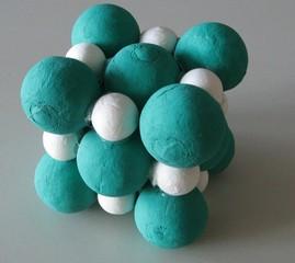 Ionengitter - Modell, Ionengitter, Kochsalz, Salzkristall, Kristall, Würfel, Natrium, Chlor, Salz