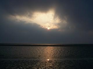 Abend am Meer - Abend, Meer, Nordsee, Sonnenuntergang, Wolken, St.Peter-Ording, Strand