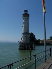 Leuchtturm von Lindau - Lindau, Leuchtturm, Bodensee, Hafeneinfahrt, Dreiländereck, Deutschland