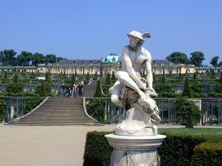 Schloss Sanssouci - Potsdam, Sanssouci, Schloss, Skulptur