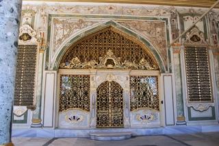 Tor zum Diwan im Topkapi-Palast in Istanbul - Türkei, Istanbul, Osmanisches Reich, Konstantinopel, Tor, Tür, Topkapi-Palast, Diwan