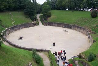 Amphitheater - Römer, Amphitheater, Trier, rund, Kreis, Rundtheater, Arena