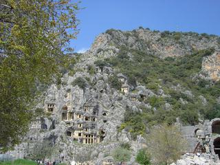 Türkei - Felsengräber bei Myra - Türkei, Felsengrab, Lykien, Myra, Antike, Demre, Kale, Lykischer Bund, Kultbauten, Hypogäen, Katakomben