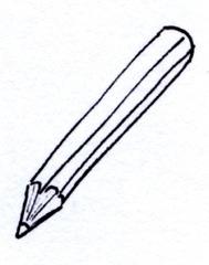 Stift - Bleistift, Buntstift, Farbstift, Sitft, schreiben, malen, zeichnen, aufschreiben, notieren, Notiz