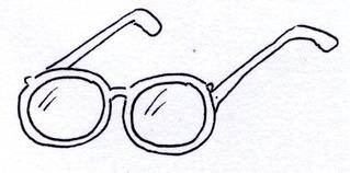 Brille - Brille, lesen, genau, sehen, anschauen, Sehhilfe, Brillenfassung, Bügel, Augengläser, Gläser, Linsen, Brillengläser, Anlaut B, Optik, Optiker