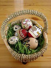 Osterkorb1 - Ostern, Eier, Ostereier, Osterei, Osternest, Korb, bunt Motiv, Indianer