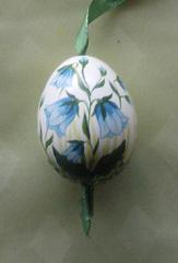 Osterei - Osterei, Ei, Ostern, bemalt, Glockenblume, Brauchtum
