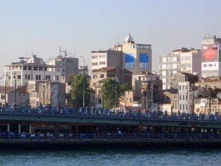 Galata-Brücke - Osmanen, Konstantinopel, Istanbul, Galata-Brücke, Eminönü, Beyoglu, Goldenes Horn