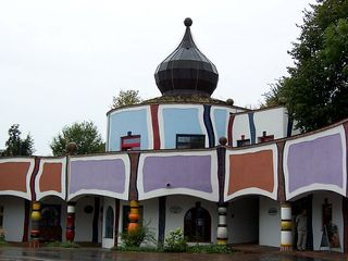 Therme Bad Blumau 3 - Hundertwasser, Bad Blumau, Therme, Zwiebelturm, Hotel, Säulen