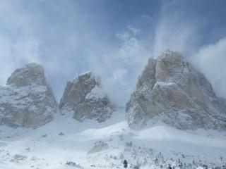 Lankofel - Sassolungo - Alto Adige, Südtirol, Italien, Alpen, Dolomiten, Winter, Bergsteigen, Skifahren, Geographie, Berge, Bergmassiv, Lankofel, Sassolungo, Sasslong, Ladin, Faltengebirge