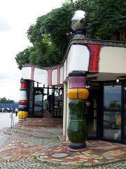 Autobahnraststätte Bad Fischau 4 - Hundertwasser, Bad Fischau, Autobahnraststätte, Säule