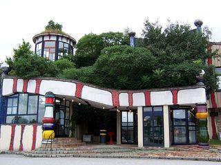 Autobahnraststätte Bad Fischau 3 - Hundertwasser, Bad Fischau, Autobahnraststätte