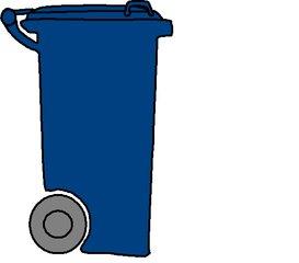Mülltonne blau - Müll, Mülltonne, Mülltrennung, Anlaut M, Umwelt, Mistkübel, Tonne, Abfalltonne, Abfall, Mist